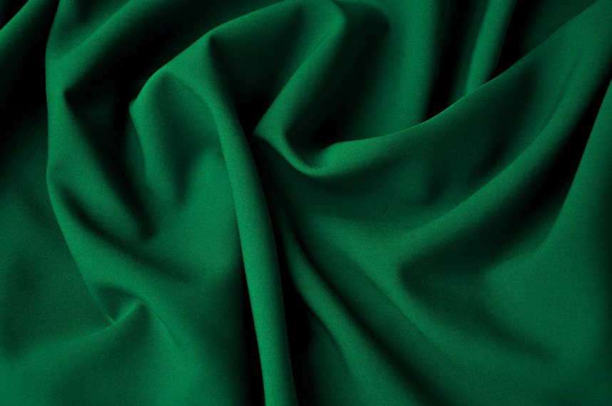 Green plain fabric for vestments
