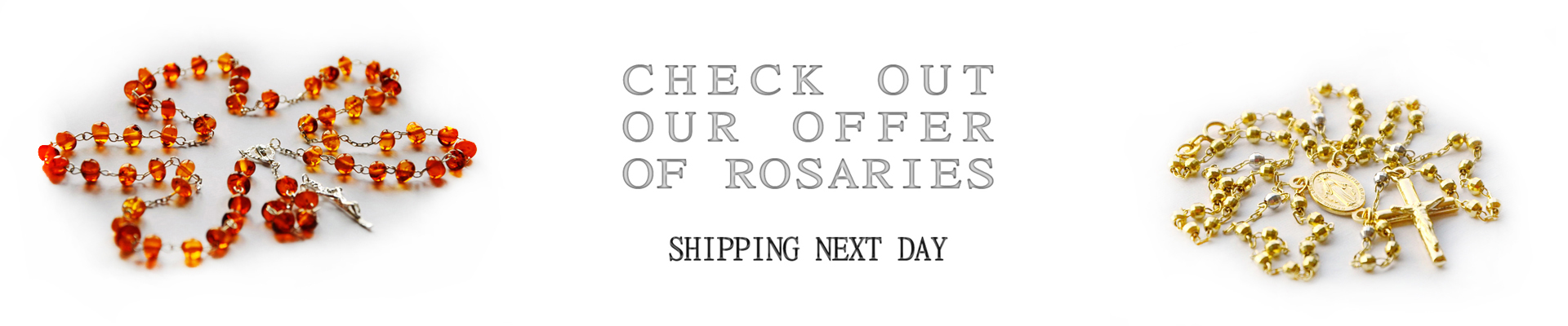 our new offer of rosaries